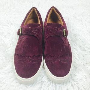 VINTAGE FRYE GEMMA KILTIE slip on sneakers, sz 6